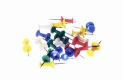 Kleuren plastic speldekop Stock Afbeelding