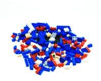 Kleuren plastic stuk speelgoed bakstenen Royalty-vrije Stock Afbeelding