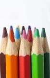 kleuren potlood Royalty-vrije Stock Afbeeldingen