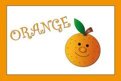Kleuren: sinaasappel Stock Afbeeldingen