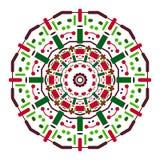Kleuren symmetrische mandala Stock Afbeeldingen