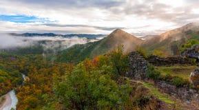 Kleuren van de herfst in Georgië Het eind van Oktober 2015 Royalty-vrije Stock Afbeeldingen