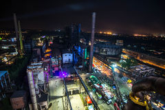 Kleuren van de nacht van Ostrava fest Royalty-vrije Stock Afbeeldingen
