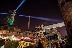 Kleuren van de nacht van Ostrava fest Stock Afbeelding