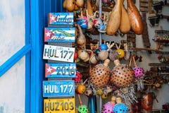 Kleuren van van de stadstrinidad caribbean van Cuba het oude blauwe overzees Stock Foto