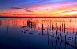 Kleuren van de zonsondergang royalty-vrije stock afbeelding