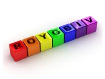 Kleuren van een regenboog royalty-vrije illustratie