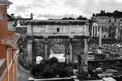 Kleuren van gebouwen in Rome Royalty-vrije Stock Afbeeldingen