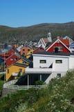 Kleuren van Hammerfest Stock Foto