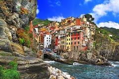Kleuren van Italië - Riomaggiore royalty-vrije stock afbeelding