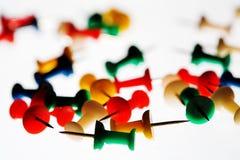 Kleuren van kantoorbehoeften. Stock Foto's