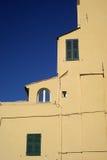 Kleuren van Mediterrane architectuur Stock Afbeelding