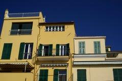 Kleuren van Mediterrane architectuur Stock Foto's