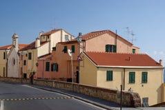 Kleuren van Mediterrane architectuur Royalty-vrije Stock Afbeelding