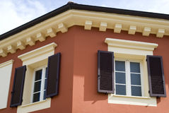 Kleuren van Mediterrane architectuur Stock Fotografie