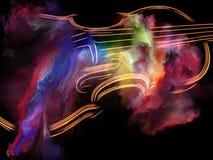 Kleuren van muziek Stock Foto's