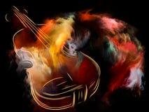Kleuren van muziek Stock Afbeelding