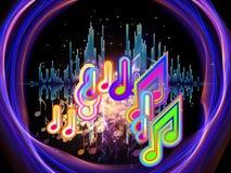 Kleuren van Muziek Stock Foto