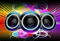 Kleuren van Muziek Stock Fotografie