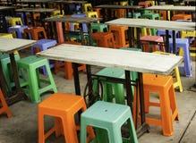Kleuren van plastic stoel Royalty-vrije Stock Afbeelding