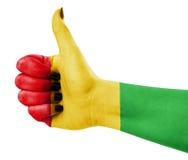 Kleuren van reggae die op hand worden toegepast Royalty-vrije Stock Afbeeldingen