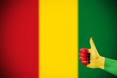 Kleuren van reggae die op hand worden toegepast Royalty-vrije Stock Foto