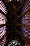 Kleuren van sainte-Chapelle Royalty-vrije Stock Foto