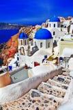 Kleuren van Santorini - Oia royalty-vrije stock afbeelding