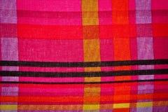 Kleuren van stoffentextuur Stock Afbeelding