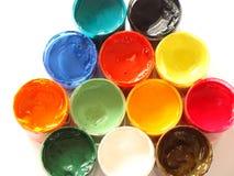 Kleuren van verven Royalty-vrije Stock Foto's