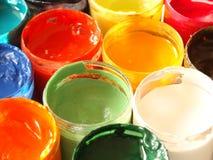 Kleuren van verven Stock Foto's