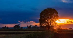 Kleuren van zonsondergang Royalty-vrije Stock Foto