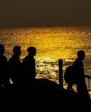 Kleuren van zonsopgang Stock Afbeeldingen