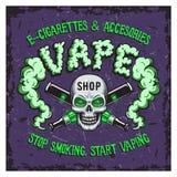 Kleuren vectorillustratie van vape het roken stock illustratie