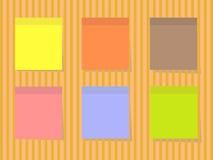 Kleuren vierkante stickers Stock Foto's