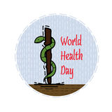 Kleuren vlakke illustratie gewijd aan de dag van gezondheid Stock Afbeelding