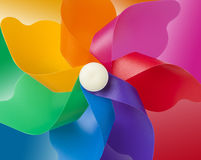 kleuren windmolen stock illustratie