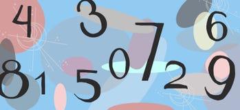 Kleurenachtergrond met aantallen stock foto