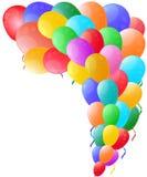 Kleurenachtergrond met glanzende ballon Stock Foto's