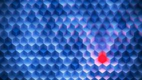 Kleurenachtergrond van Kubussen wordt gemaakt die Stock Afbeeldingen