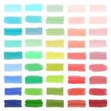 Kleurenbanners met de tellers die van Japan worden getrokken stock illustratie