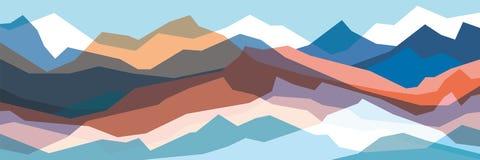 Kleurenbergen, doorzichtige golven, abstracte glasvormen, moderne achtergrond, vectorontwerpillustratie voor u project vector illustratie