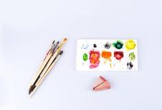 Kleurenborstel Royalty-vrije Stock Afbeeldingen