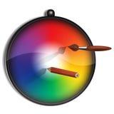 Kleurencirkel voor schilder Stock Foto's