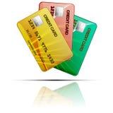 Kleurencreditcards op een witte achtergrond Vector Royalty-vrije Stock Foto
