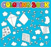 Kleurend boek met diverse vliegers Stock Foto