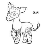 Kleurend boek, Okapi royalty-vrije illustratie