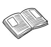 Kleurend boek, Open boek royalty-vrije illustratie