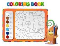 Kleurend boek over schip Stock Foto's