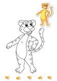 Kleurend boek van dieren 12 - tijger Royalty-vrije Stock Afbeelding